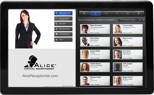 ALICE Virtual Receptionist